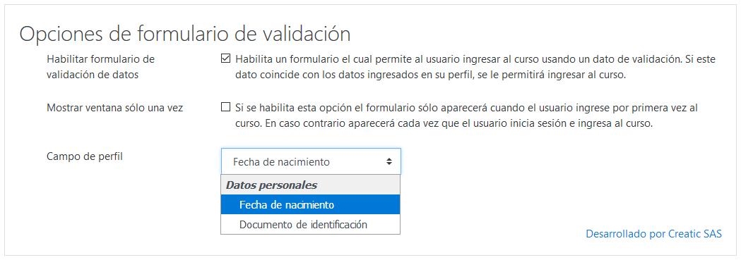 Plugin Formulario de Validación de Datos 6